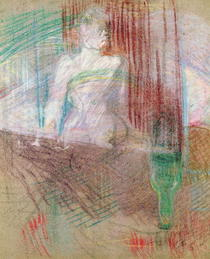 Woman standing behind a table, from `Elles` by Henri de Toulouse-Lautrec