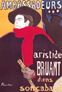 Poster advertising Aristide Bruant  by Henri de Toulouse-Lautrec