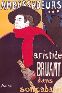 Poster advertising Aristide Bruant  von Henri de Toulouse-Lautrec