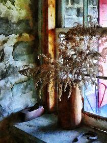 Dried Flowers on Windowsill by Susan Savad