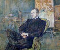 Paul Leclercq  by Henri de Toulouse-Lautrec