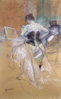 Woman at her Toilet, study for `Elles` by Henri de Toulouse-Lautrec