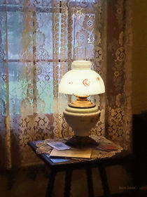 Parlor With Hurricane Lamp by Susan Savad