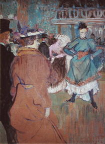 Quadrille at the Moulin Rouge by Henri de Toulouse-Lautrec