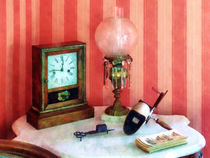 Stereopticon Lamp and Clock by Susan Savad