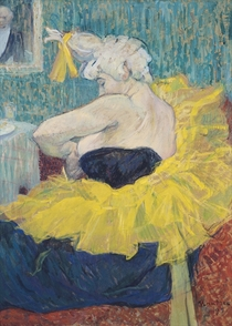 The Clowness Cha-U-Kao in a Tutu by Henri de Toulouse-Lautrec