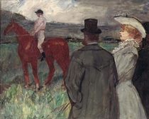 At the Racecourse by Henri de Toulouse-Lautrec