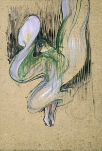 Study for Loie Fuller  by Henri de Toulouse-Lautrec