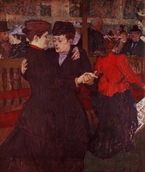 At the Moulin Rouge: The Two Waltzers by Henri de Toulouse-Lautrec