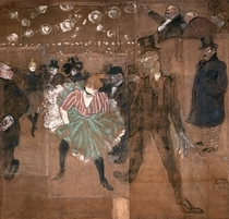 Dancing at the Moulin Rouge: La Goulue  by Henri de Toulouse-Lautrec