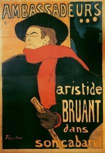 Ambassadeurs: Aristide Bruant by Henri de Toulouse-Lautrec