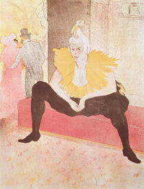 The Clowness Cha-U-Kao Seated von Henri de Toulouse-Lautrec