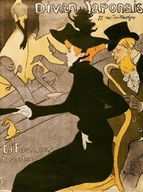 Poster advertising `Le Divan Japonais` by Henri de Toulouse-Lautrec