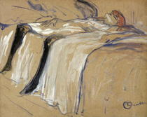 Woman lying on her Back - Lassitude, study for `Elles` by Henri de Toulouse-Lautrec