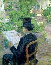 Monsieur Desire Dihau  by Henri de Toulouse-Lautrec