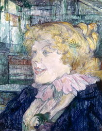 The English Girl from `The Star` at Le Havre by Henri de Toulouse-Lautrec