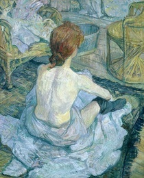 Woman at her Toilet by Henri de Toulouse-Lautrec