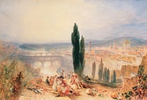 Florence from near San Miniato von Joseph Mallord William Turner