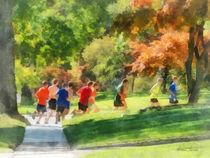 Track Team by Susan Savad