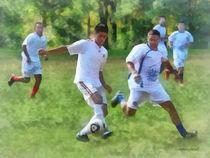 Kicking Soccer Ball von Susan Savad