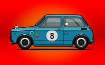 Honda N600 Blue Kei Race Car von monkeycrisisonmars
