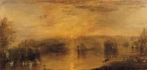 The Lake, Petworth: Sunset, a Stag Drinking von Joseph Mallord William Turner