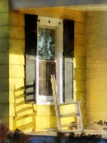 Porch With Long Afternoon Shadow of Rocking Chair by Susan Savad