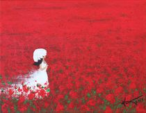 Being a Woman - #2 In a field of poppies by Kume Bryant
