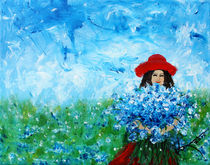 Being a Woman - #3 In a field of bluebonnets by Kume Bryant