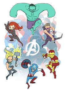 Avengers Assemble by Geo Law