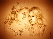 Freundinnen - erotische Zeichnung by Marita Zacharias
