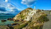Leuchtturm an der Küste von Sandra Schulze