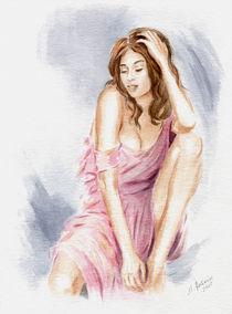Schönes Girl im sexy Kleid - erotische Gemälde by Marita Zacharias