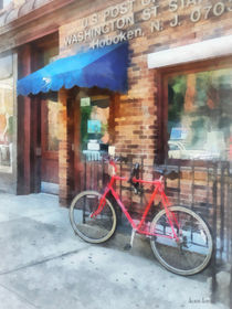 Hoboken NJ - Bicycle By Post Office von Susan Savad