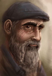 old man portrait by Renato Klieger Gennari