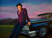Tom Waits painting by Paul Meijering