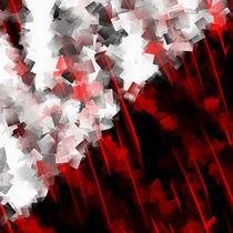 Schwarz weiß trifft rot Version 6 by Christine Bässler