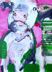 Biokuh in Pink von Stefanie Rogge