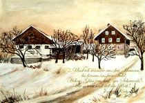 Weihnachtskarte -Und ich wandre aus den Mauern von Chris Berger