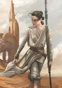 Rey - Star Wars The Force awakens von Tobias Goldschalt