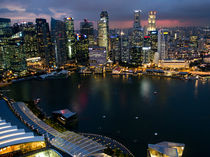 Marina Bay Singapore Night from above by James Menges