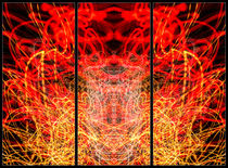 Light Painting Abstract Triptych #3 by John Williams