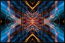 Light Painting Abstract Triptych #5 by John Williams