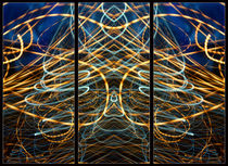 Light Painting Abstract Triptych #6 by John Williams