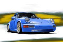 Porsche-911-964-blue