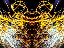 Lightpainting Abstract Symmetry UFA Prints #4 by John Williams