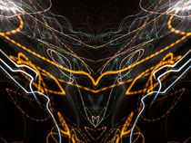 Lightpainting Abstract Symmetry UFA Prints #8 by John Williams