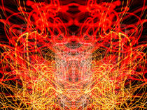 Lightpainting Abstract Symmetry UFA Prints #10 by John Williams