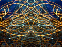Lightpainting Abstract Symmetry UFA Prints #13 by John Williams