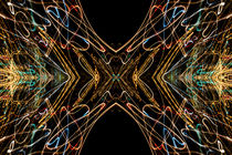 Lightpainting Abstract Symmetry UFA Prints #15 by John Williams